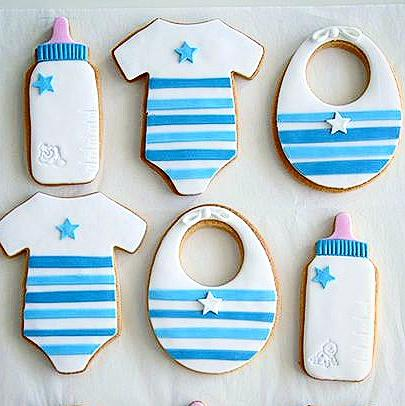 Baby Boy Cookies!