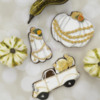 Decorated Vintage Pumpkin Cookies