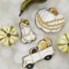 Decorated Vintage Pumpkin Cookies