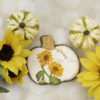 Hand Painted Sunflower Spray on a Pumpkin Cookie