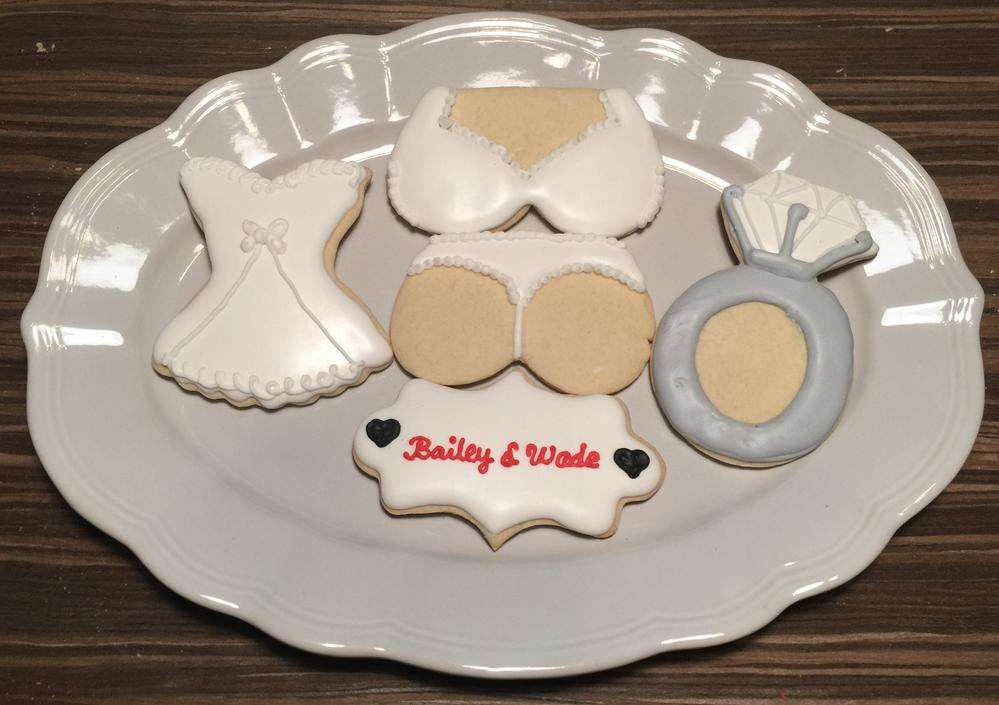 White Lingerie cookies