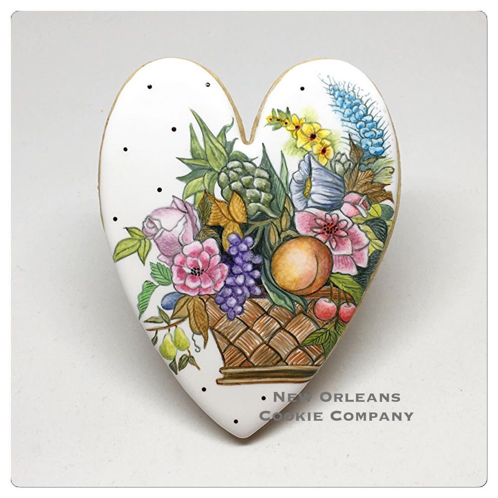 Handpainted Heart Cookie