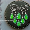 Jewelry Cookie With Emerald Necklace