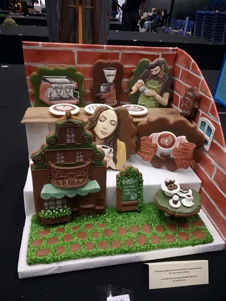 Cafe gingerbreads set