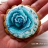 Painted Blue Rose