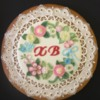 Royal icing  embroidery flowers cookie.