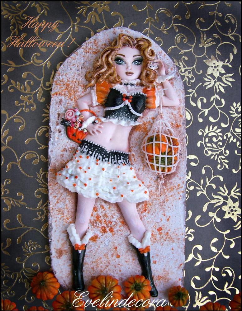 Halloween Doll Cookie