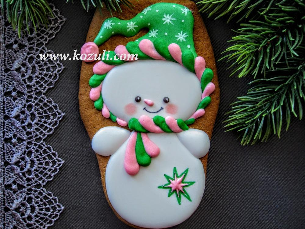 Christmas Cookie Snowman Cookie Connection
