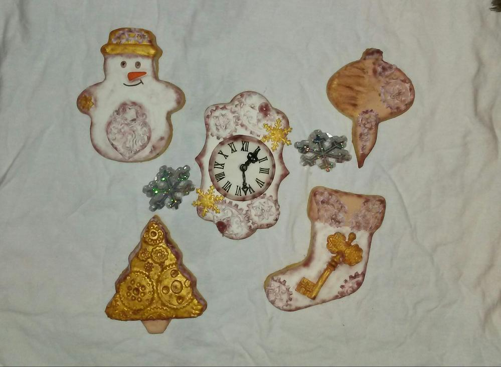 Vintage Steampunk Christmas Set