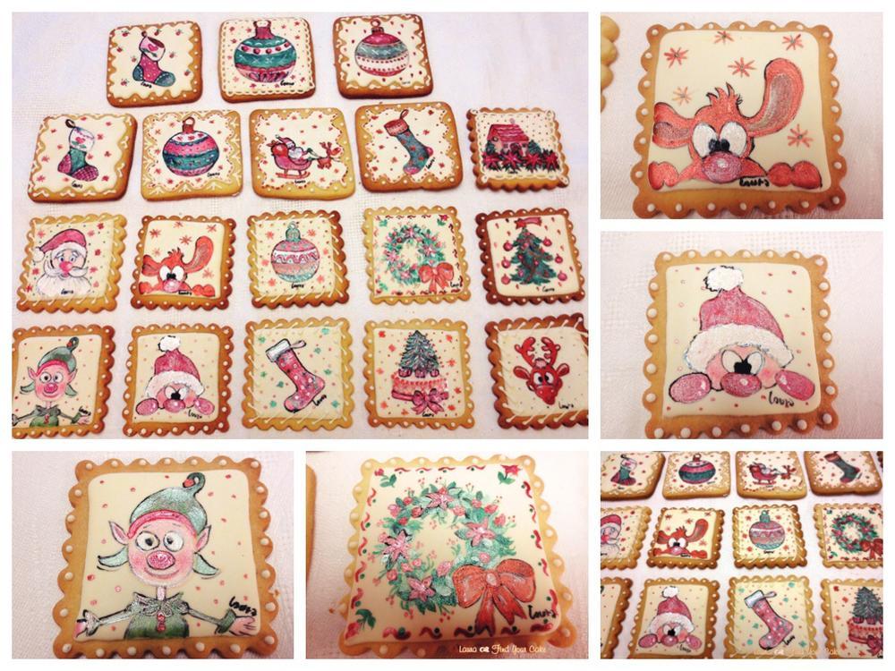 Christmas painted cookies