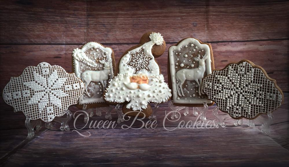 Traditional White Winter Gingerbread