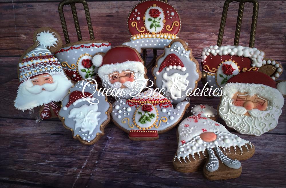 Grey-red Christmas set