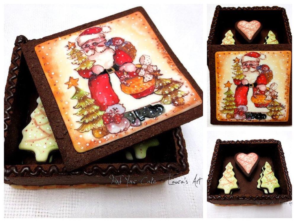 Christmas cookies gift box