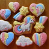 Vanilla sugar cookies happy unicorn