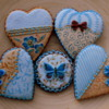 Heart chocolate sugar cookies.