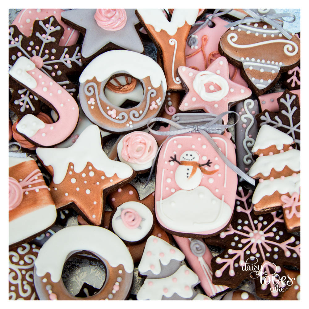 Blush, Grey and Copper Christmas - by Daisy Loves Cake