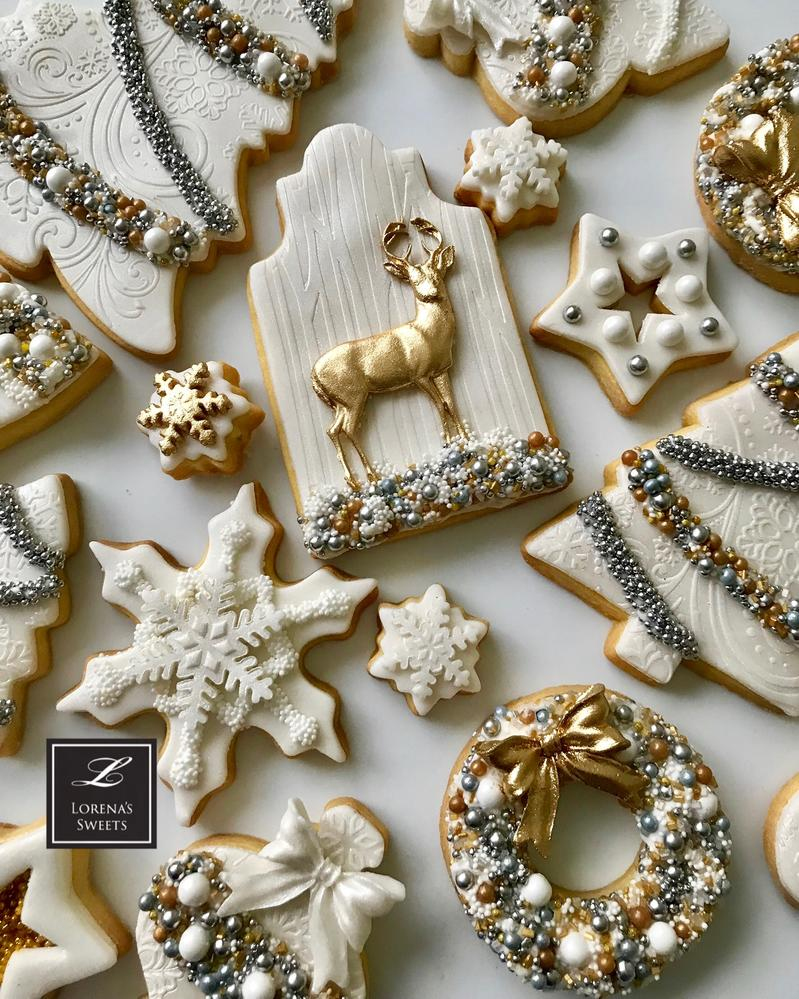Lorena Rodríguez. White Christmas cookies . Deer cookie