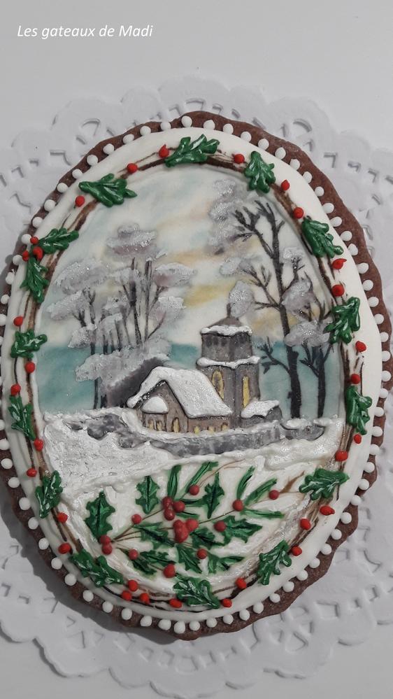Village on the snow