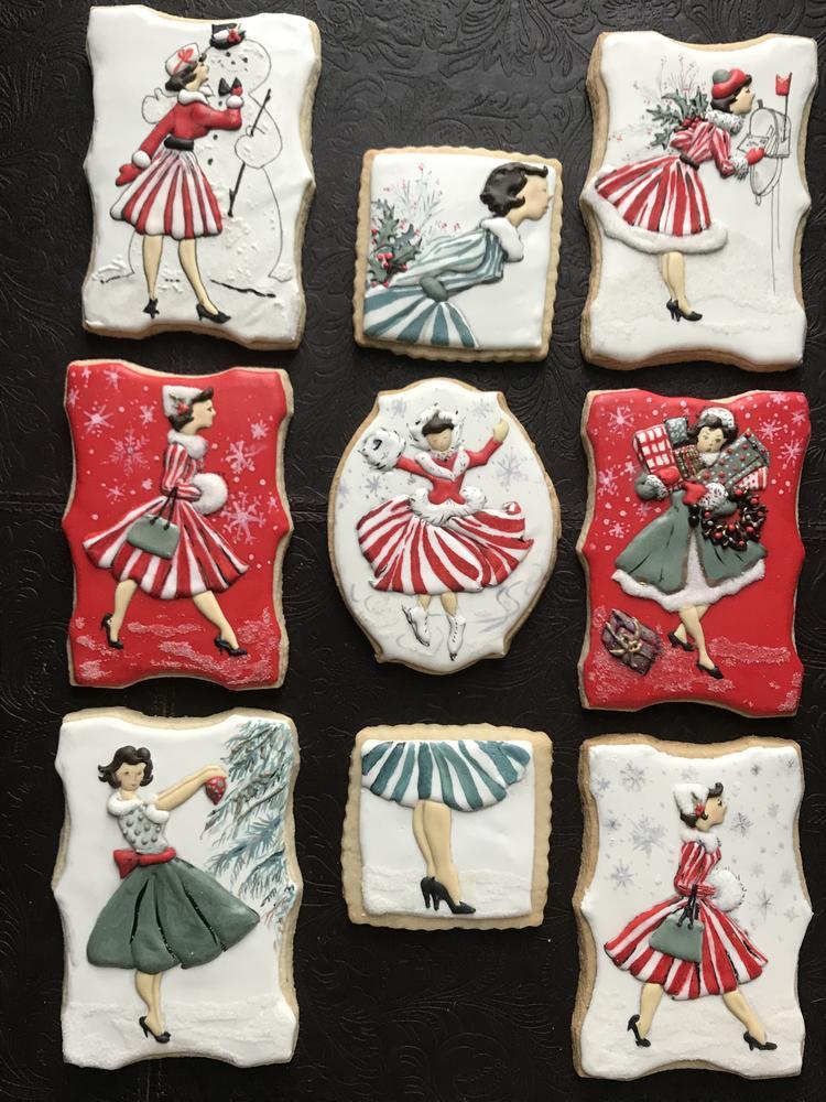 Norcross Lady Vintage Christmas Set