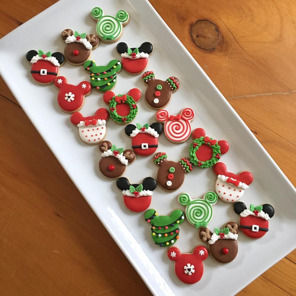 mickey mouse mini christmas cookies - Mickey Mouse Christmas Cookies