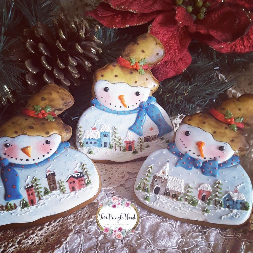 Winter scene snowmen