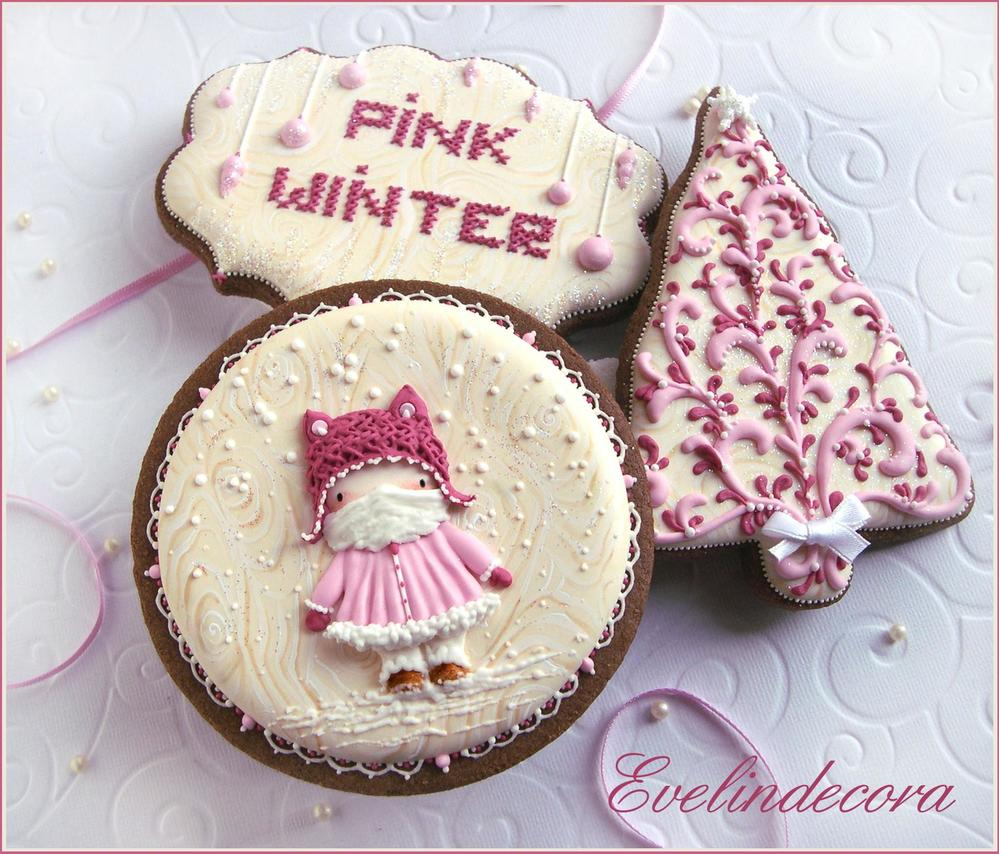 Pink Winter Cookies