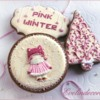 Pink Winter Cookies