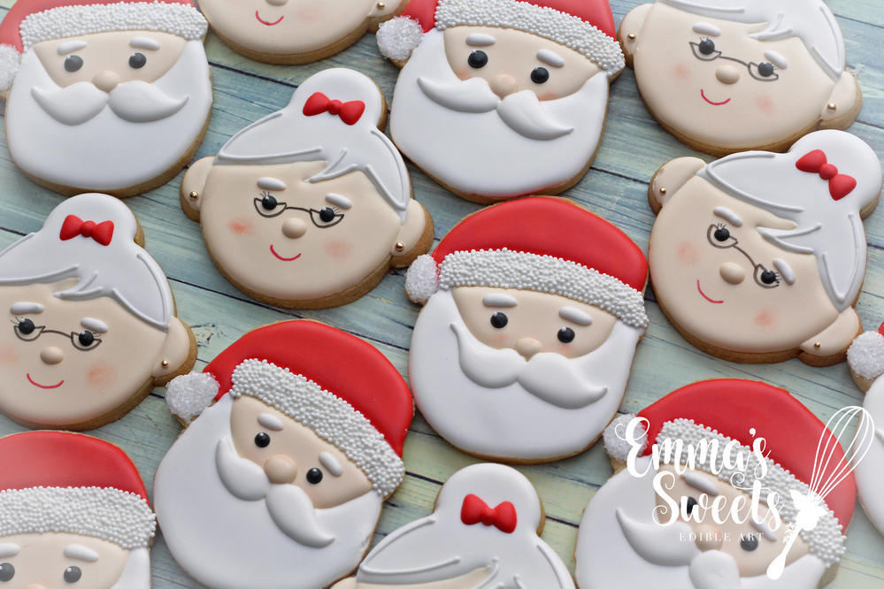 Santa and Mrs. Claus Cookies by Emma's Sweets