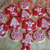 Red & white christmas cookies