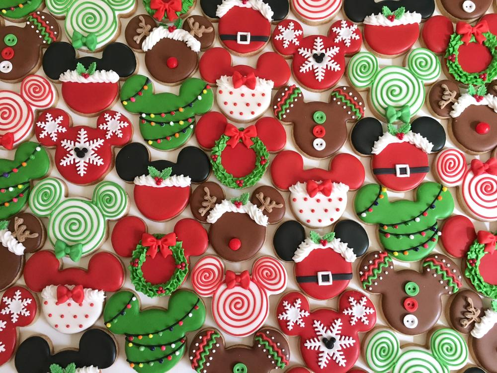 Mickey Mouse Christmas Cookies Cookie Connection