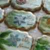 Vintage X-mas Cookies, watercolor and fondant