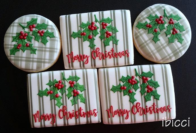 Plaid Merry Christmas Cookies Cookie Connection