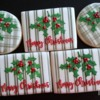 Plaid Merry Christmas cookies