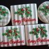 Plaid Merry Christmas cookies
