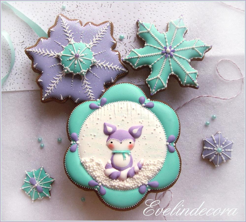 Winter Fox Cookies