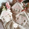 Shabby chic gingerbread houses