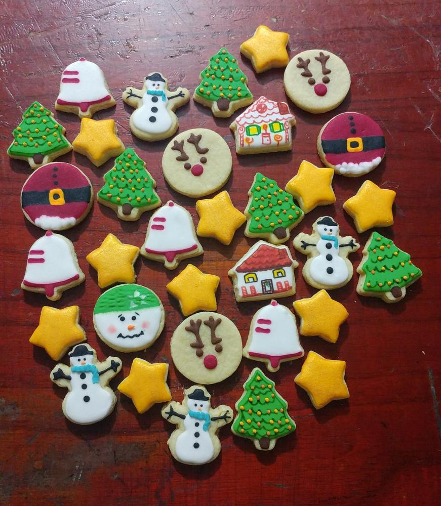 Mini christmas cookies