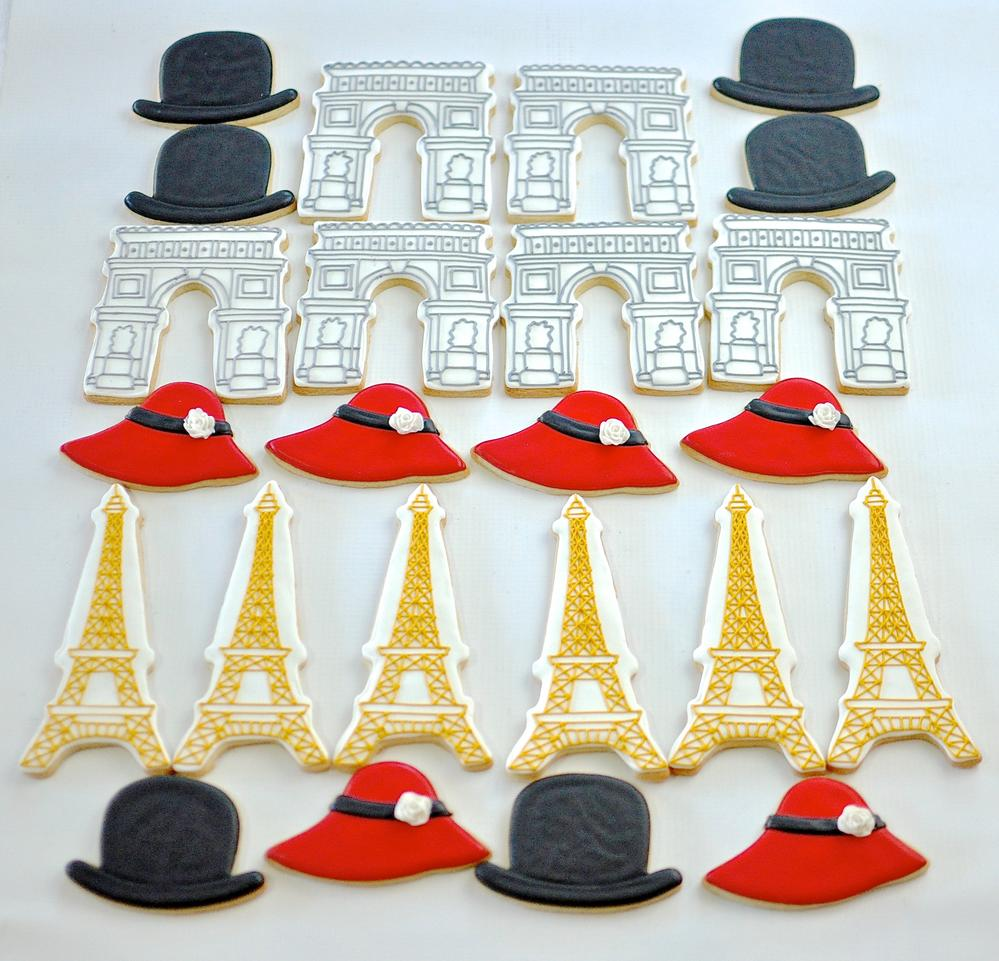 Paris-Themed Cookies