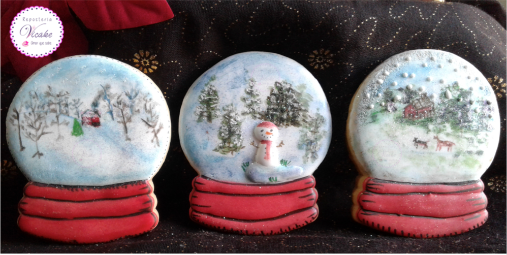 Christmas Landscapes in Snowballs - Practice Bakes Perfect Challenge #26