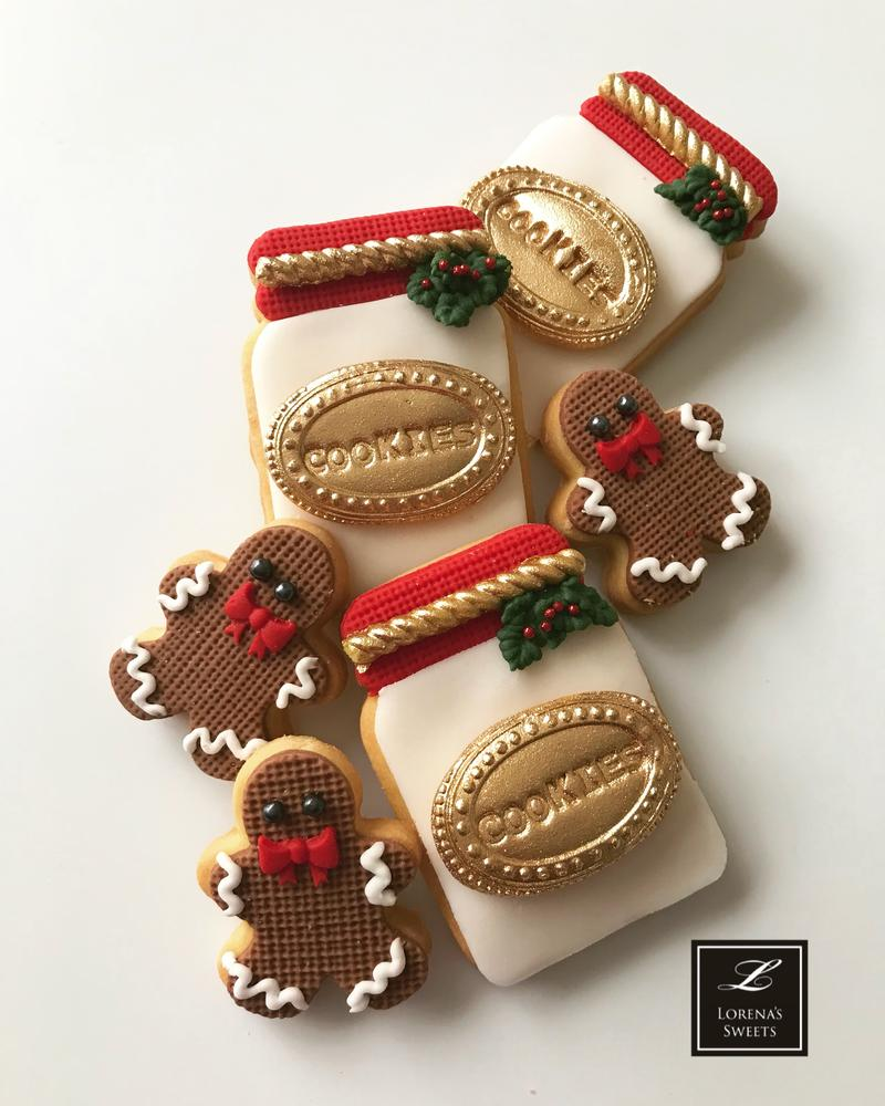 Lorena Rodríguez. Christmas cookies. Cookie jar