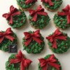 Lorena Rodríguez. Christmas wreath cookies
