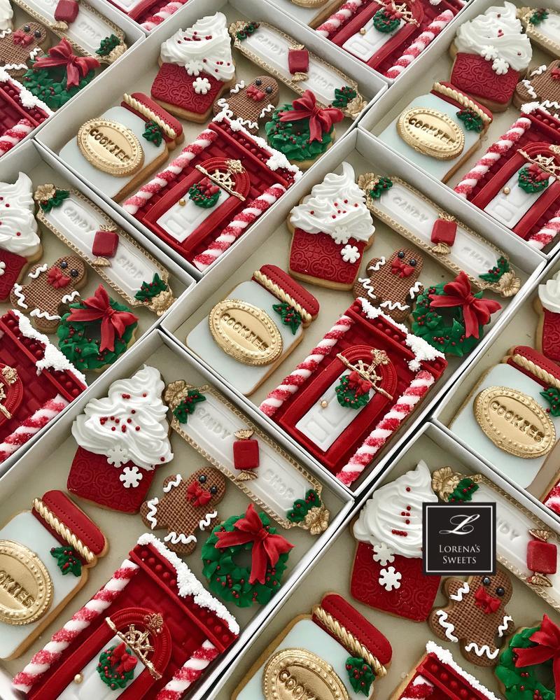 Lorena Rodríguez. Christmas cookies. Candy shop cookies
