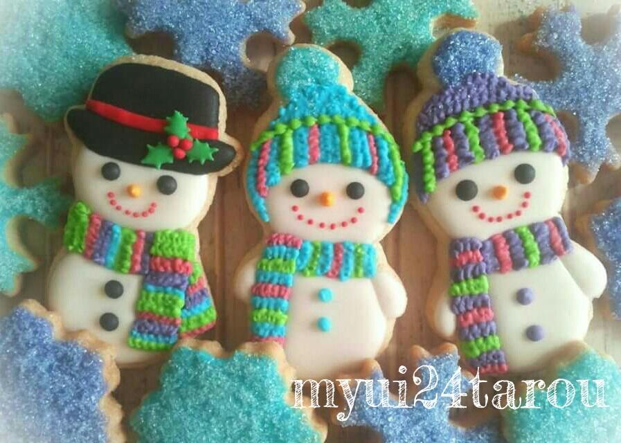 Little snowman cookies