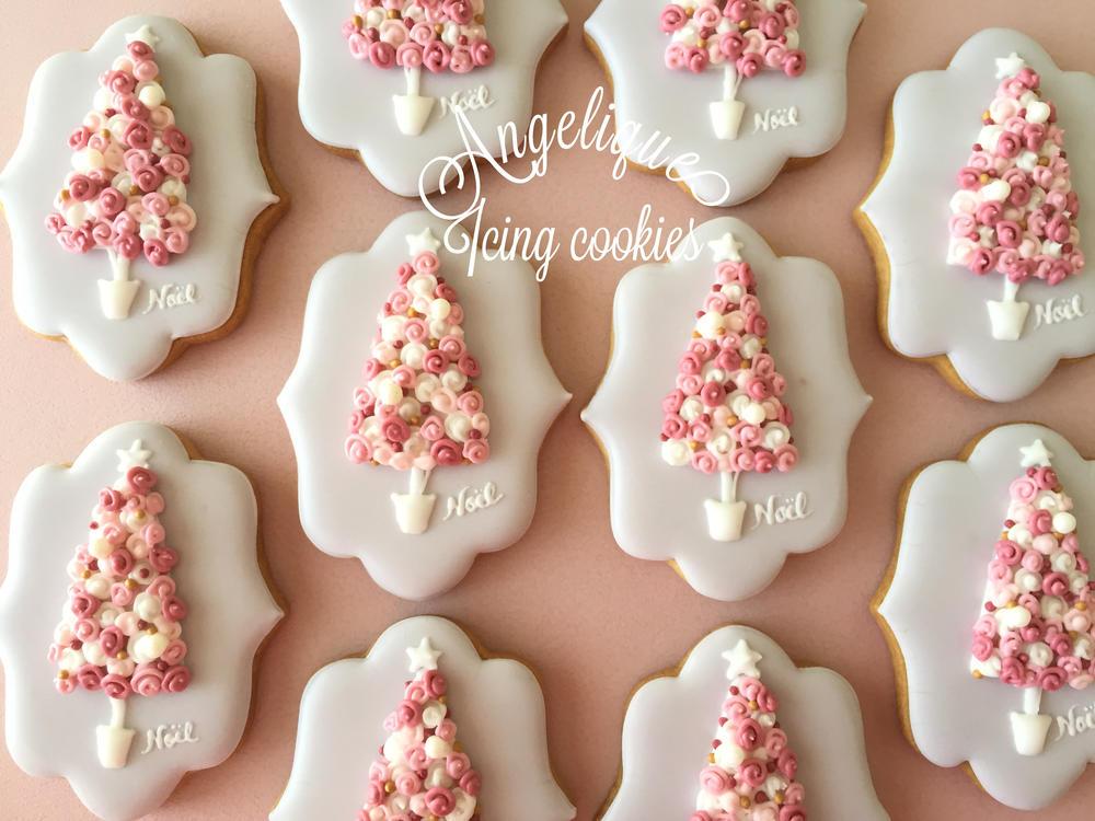 Christmas tree topiary mini cookies