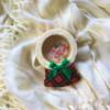 Tartan Stained Glass Christmas Snow Globe