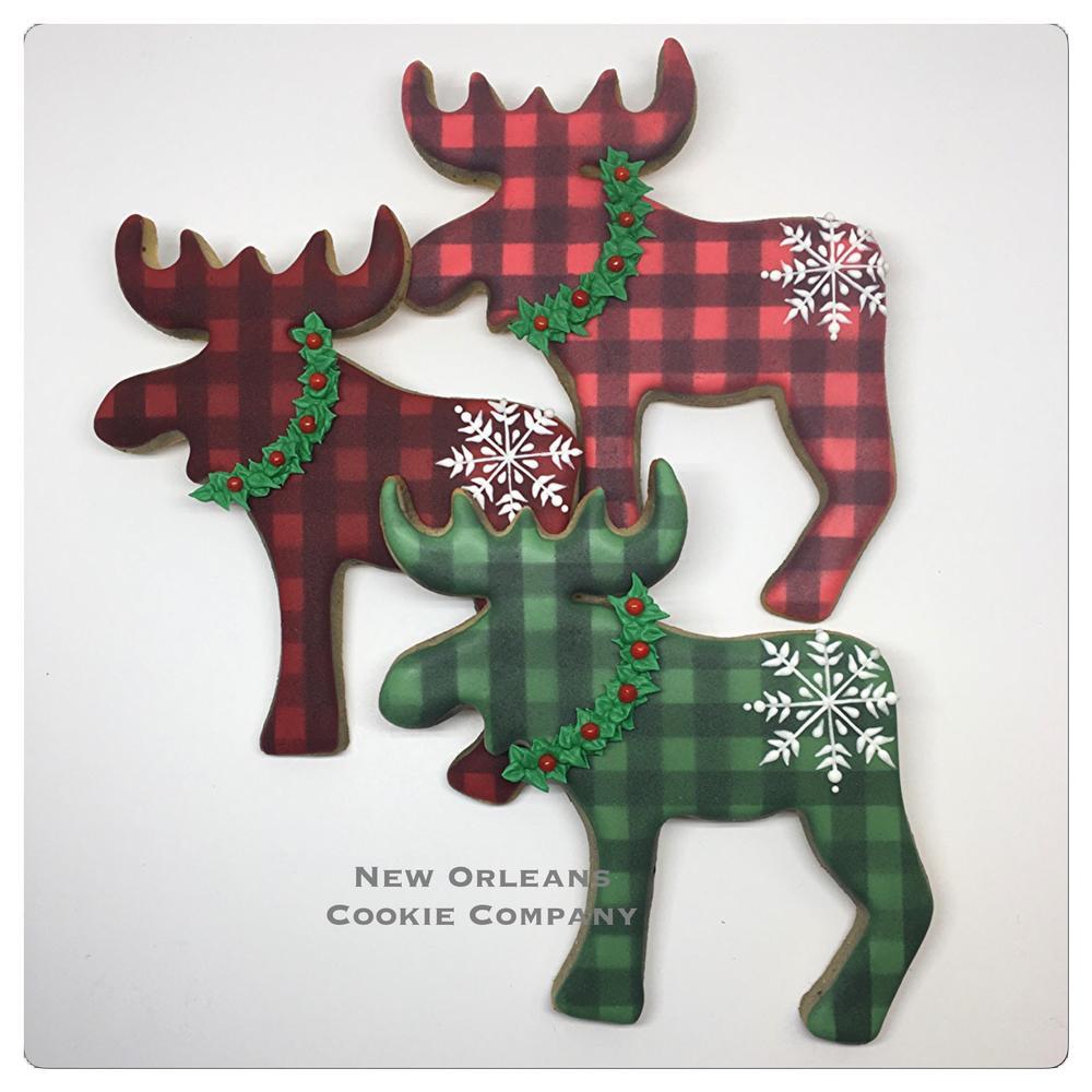 Plaid Winter Moose