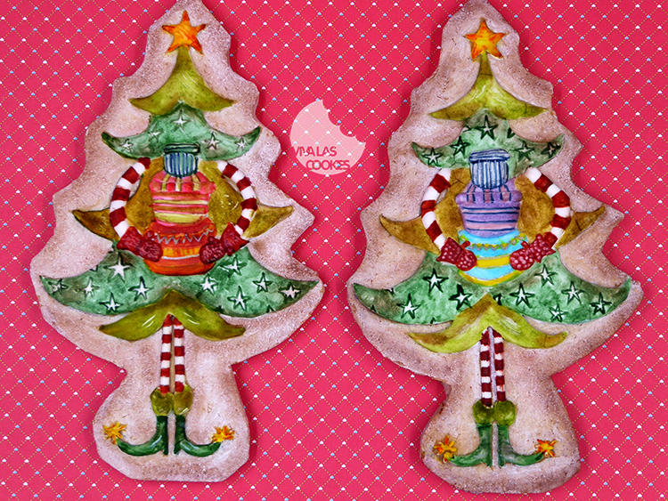 Handpainted Christmas Trees