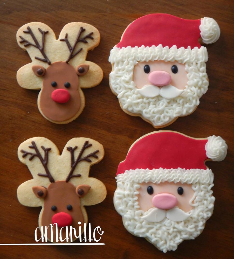 Rudolph y Santa