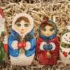 Handpainted Christmas Nesting Dolls