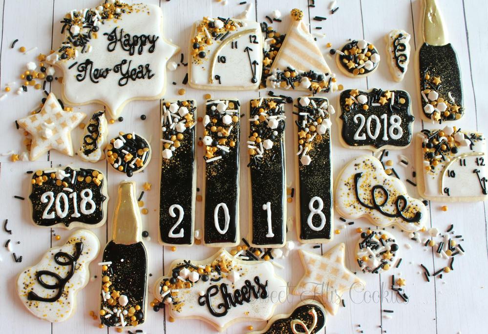 New Years stick set- black
